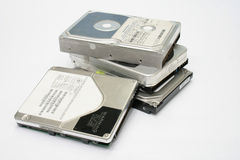 Bunch of hard disks Stock Image