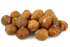Bunch of hazelnuts Stock Photography
