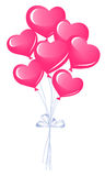 Bunch of heart balloons Stock Images