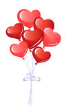 Bunch of heart balloons Stock Photo