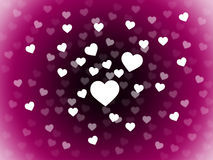 Bunch Of Hearts Background Means Attraction  Affection And In Lo Royalty Free Stock Photography