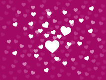 Bunch Of Hearts Background Shows Loving Couple Or Passionate Mar Stock Photography