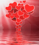 Bunch Of Hearts Displays Sweet Love Or Romantic Couple Stock Photography