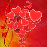 Bunch Of Hearts Means Sweet Hearts Or Beautiful Royalty Free Stock Photography