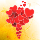 Bunch Of Hearts Shows Valentines Day And Royalty Free Stock Image