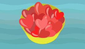Bunch or hearts Stock Image