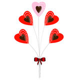 Bunch of hearts. Royalty Free Stock Photography