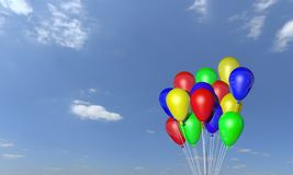 Bunch of helium balloons Royalty Free Stock Photos