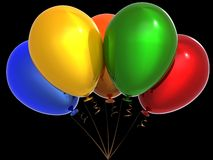 Bunch of helium balloons (Hi-Res) Royalty Free Stock Photography