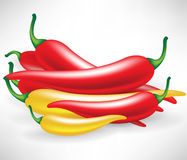 Bunch of hot chili pepper Stock Image