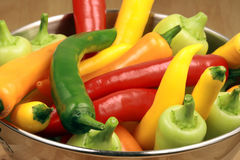 Bunch of hot peppers Stock Photo