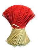 Bunch of Incense Joss Sticks Isolated on White Stock Images