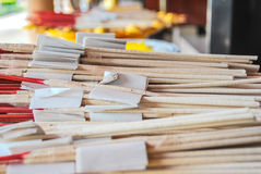 Bunch of incense sticks for buddhist temple offertory Stock Photo
