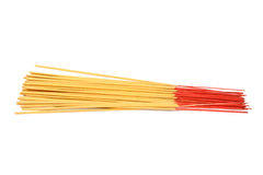 Bunch of incense sticks isolated Stock Images