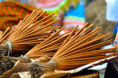 Bunch of incense sticks in the market Stock Photography