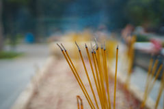 Bunch of Incense sticks Stock Photo