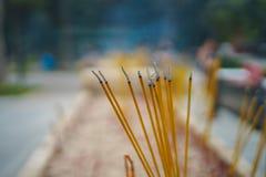 Bunch of Incense sticks. Incense sticks in Po Lin Monastery Stock Photo