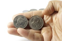 A Bunch of Indian Currency Coins Royalty Free Stock Image