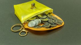 BUNCH OF INDIAN CURRENCY COINS royalty free stock photography