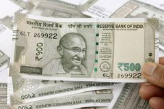 A Bunch of Indian Rupees Royalty Free Stock Photos
