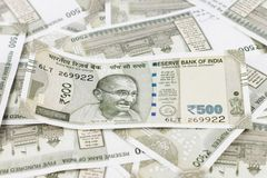 A Bunch of Indian Rupees Stock Photos