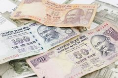 A Bunch of Indian Rupees Royalty Free Stock Photography