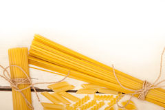 Bunch of Italian pasta type Royalty Free Stock Image