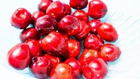 A bunch of juicy cherries. A bunch of juicy red cherries Stock Image