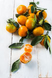 Bunch of juicy tangerines Royalty Free Stock Photos