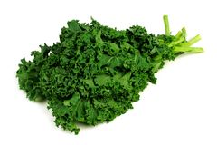 Bunch of kale over a white background Royalty Free Stock Image