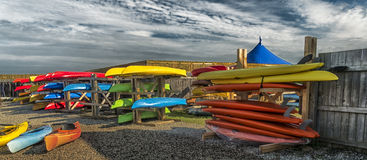 Bunch of Kayaks Royalty Free Stock Photo