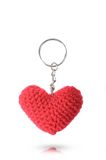 Bunch of key made  from heart by fabric Stock Image