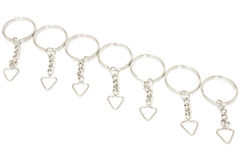 Bunch of keychains Stock Photography