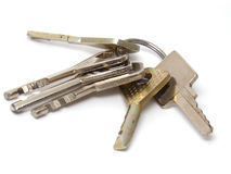Bunch of keys. On a white background Stock Image