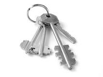 Bunch of keys 4. Bunch of keys on white Stock Image