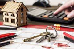 Bunch of keys on the desk Stock Image