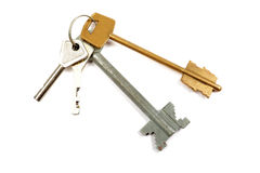 Bunch of keys isolated. Stock Photos