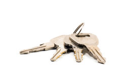 Bunch of keys isolated Stock Photo