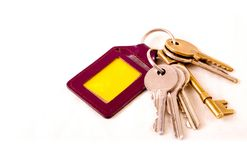 A bunch of keys and ket ring Stock Photography