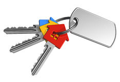 Bunch of keys with label Stock Photography