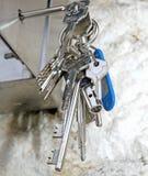 Bunch of keys to open doors locks Royalty Free Stock Image