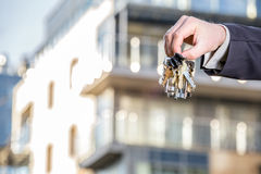 Bunch of keys to your brand new apartment Royalty Free Stock Images