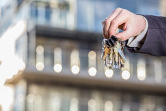 Bunch of keys to your brand new apartment Stock Image