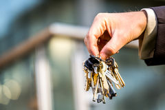Bunch of keys to your brand new apartment Royalty Free Stock Photo
