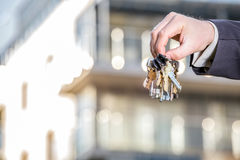 Bunch of keys to your brand new apartment Stock Photos