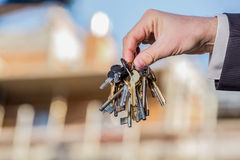 Bunch of keys to your brand new apartment Royalty Free Stock Photos