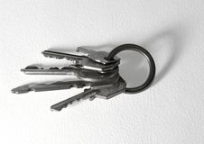 Bunch of keys un paper back Royalty Free Stock Photography
