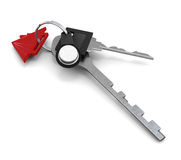 Bunch of keys on white background. 3d illustration. 3d rendering Royalty Free Stock Images