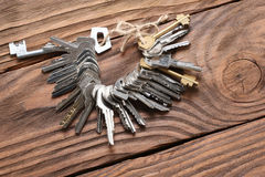 Bunch of keys Stock Images