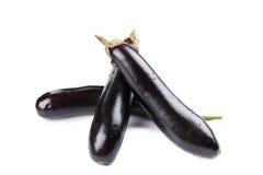 Bunch of large eggplants. Stock Photo